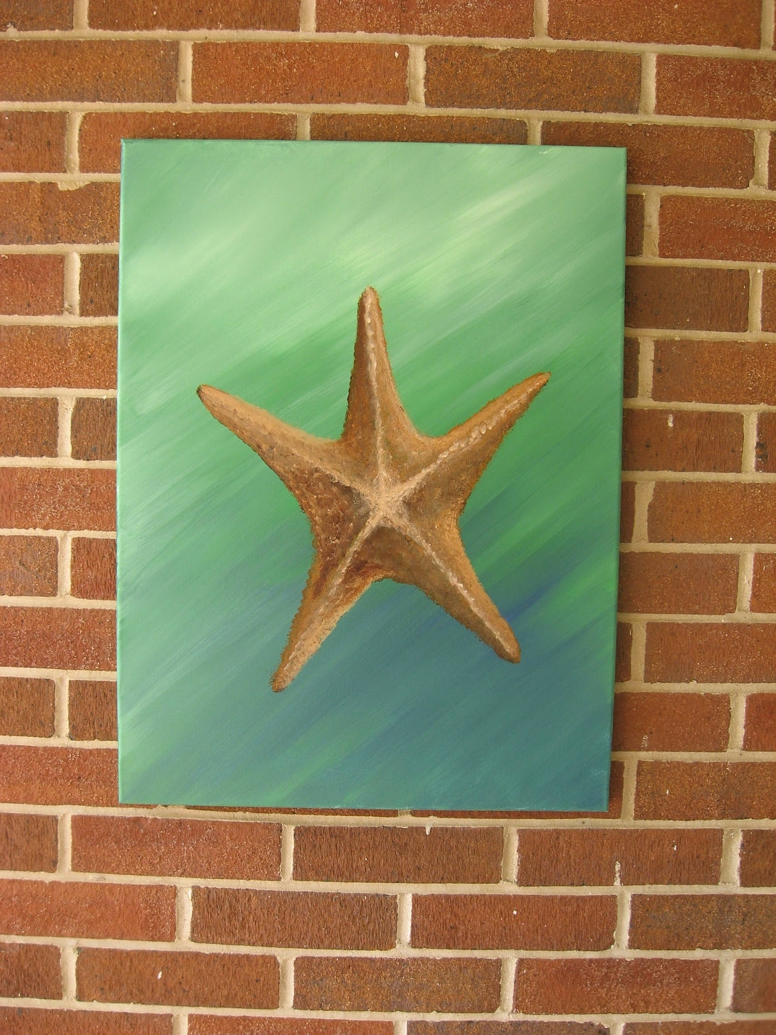 Large Starfish Wall Decors Regarding Well Known Starfish Painting Large Starfish Hand Painted Starfish Beach Decor (View 7 of 15)