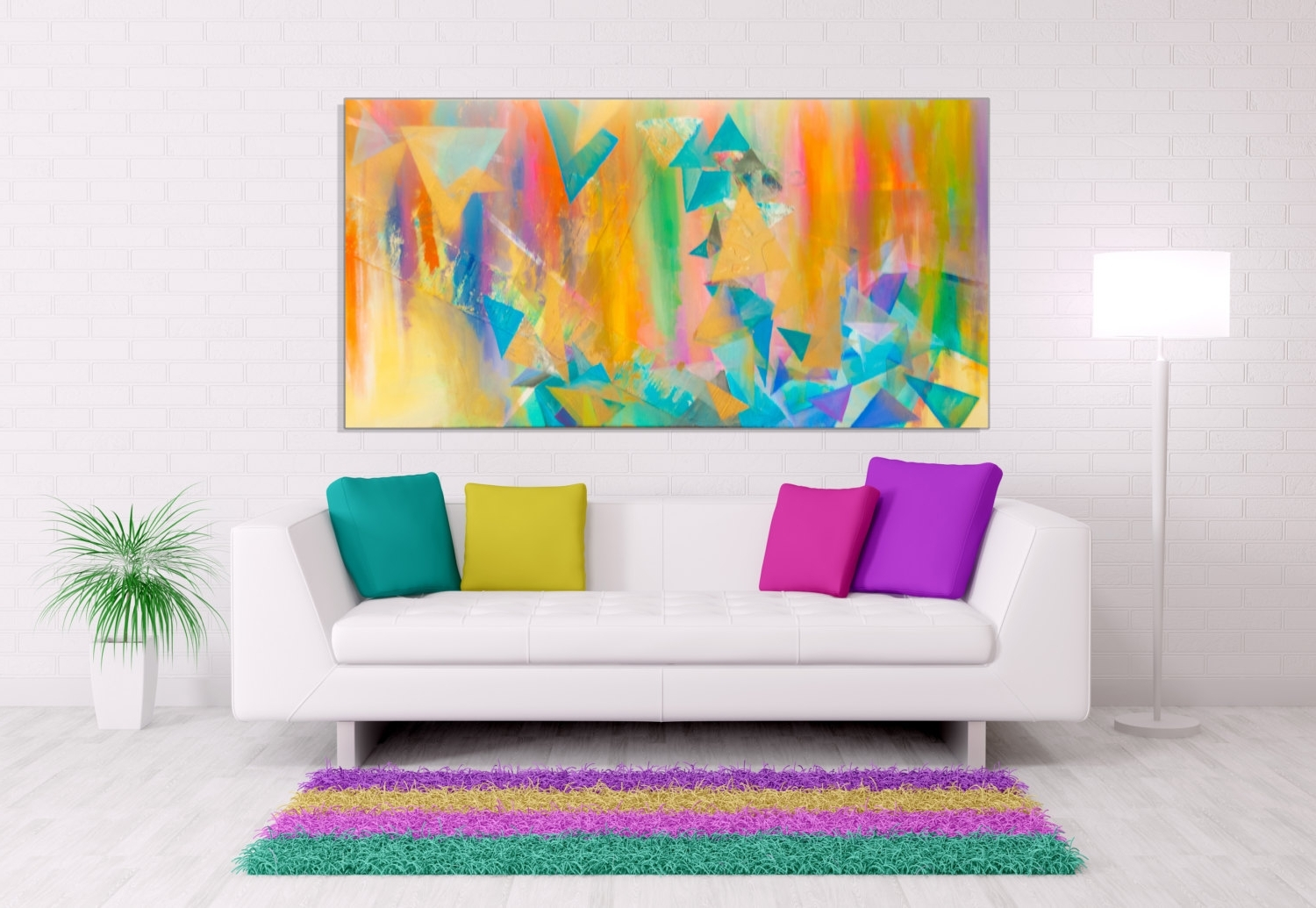 Large White Wall Art In Most Recently Released Wall Art: Best Sample Ideas Bright Wall Art Bright Wall Decor (View 6 of 15)
