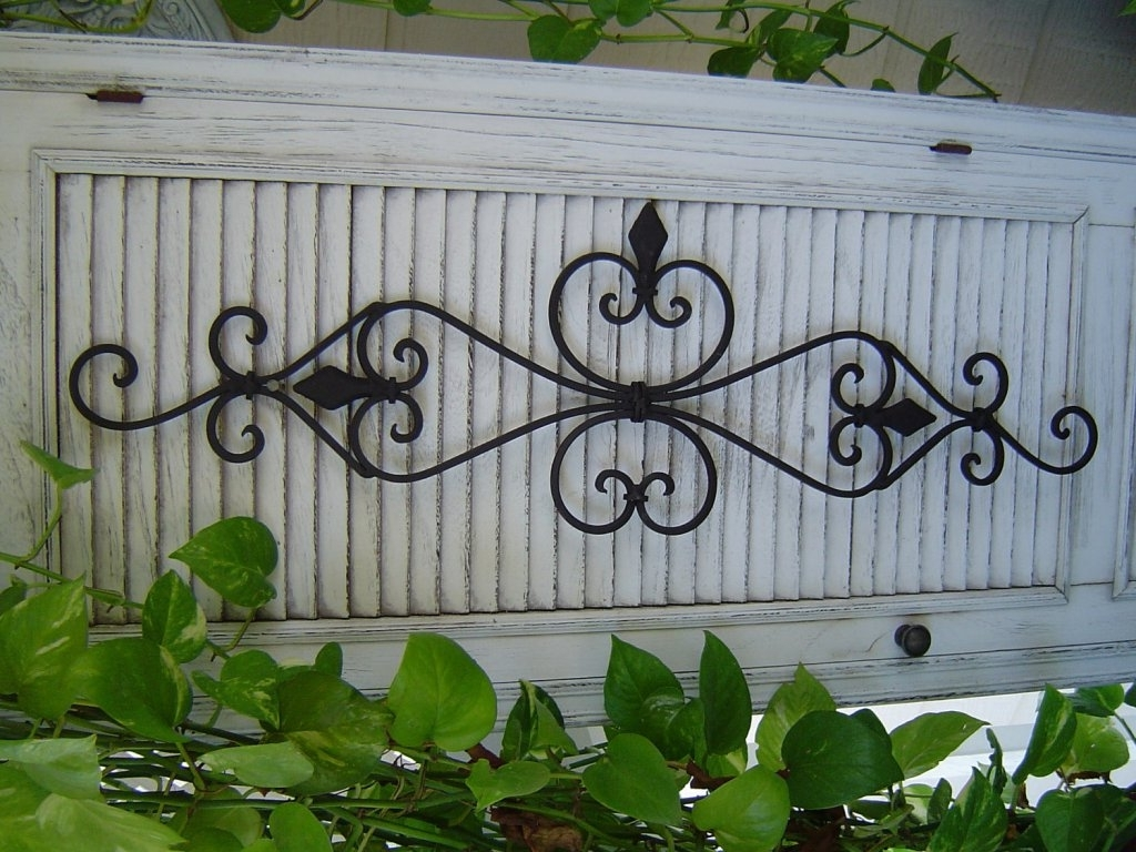 Large Wrought Iron Wall Art Inside Fashionable Garden Wrought Iron Wall Art — Coexist Decors : Art Outdoor (View 8 of 15)