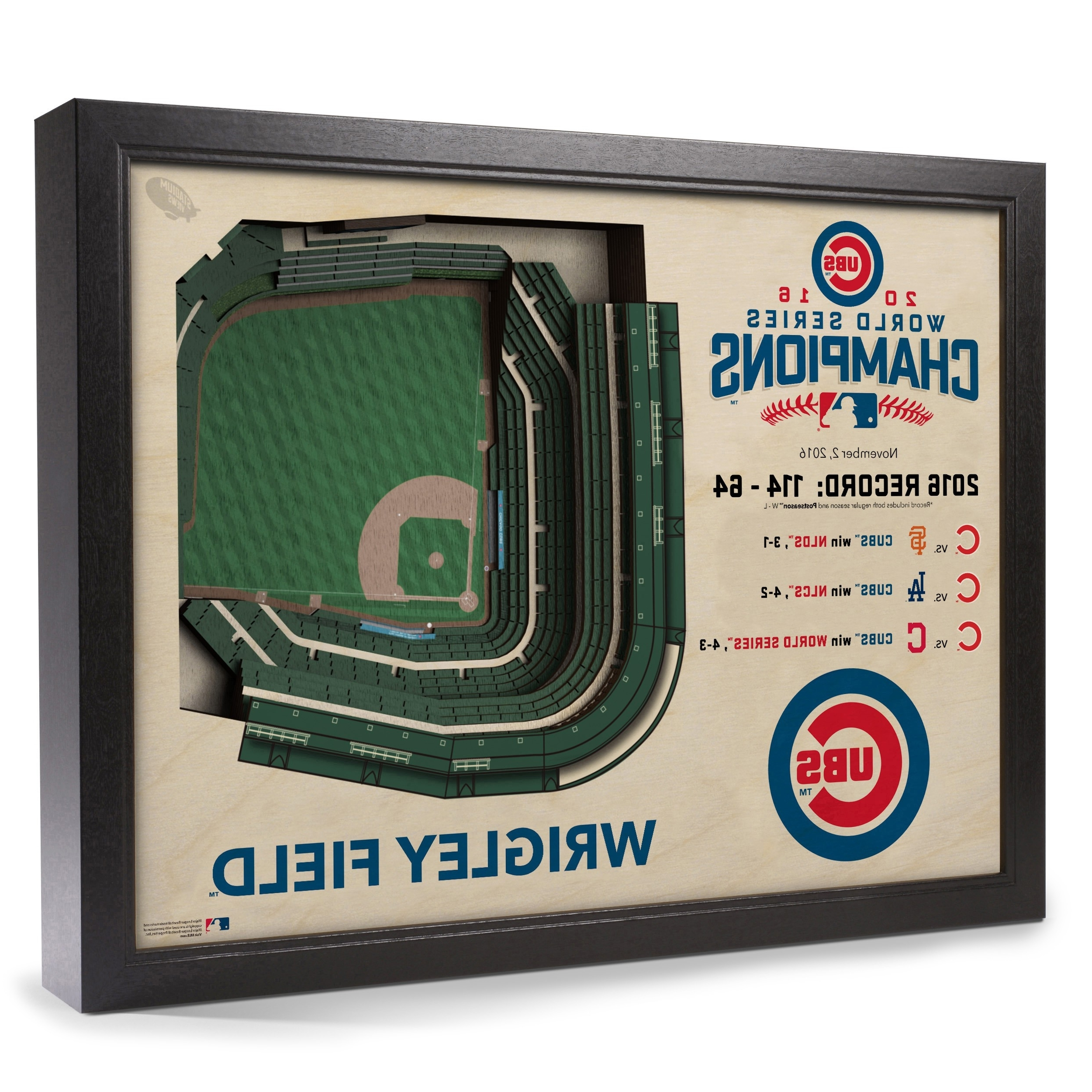 Latest 2016 World Series Champions Chicago Cubs Stadiumview Wall Art Within Chicago Cubs Wall Art (View 6 of 15)