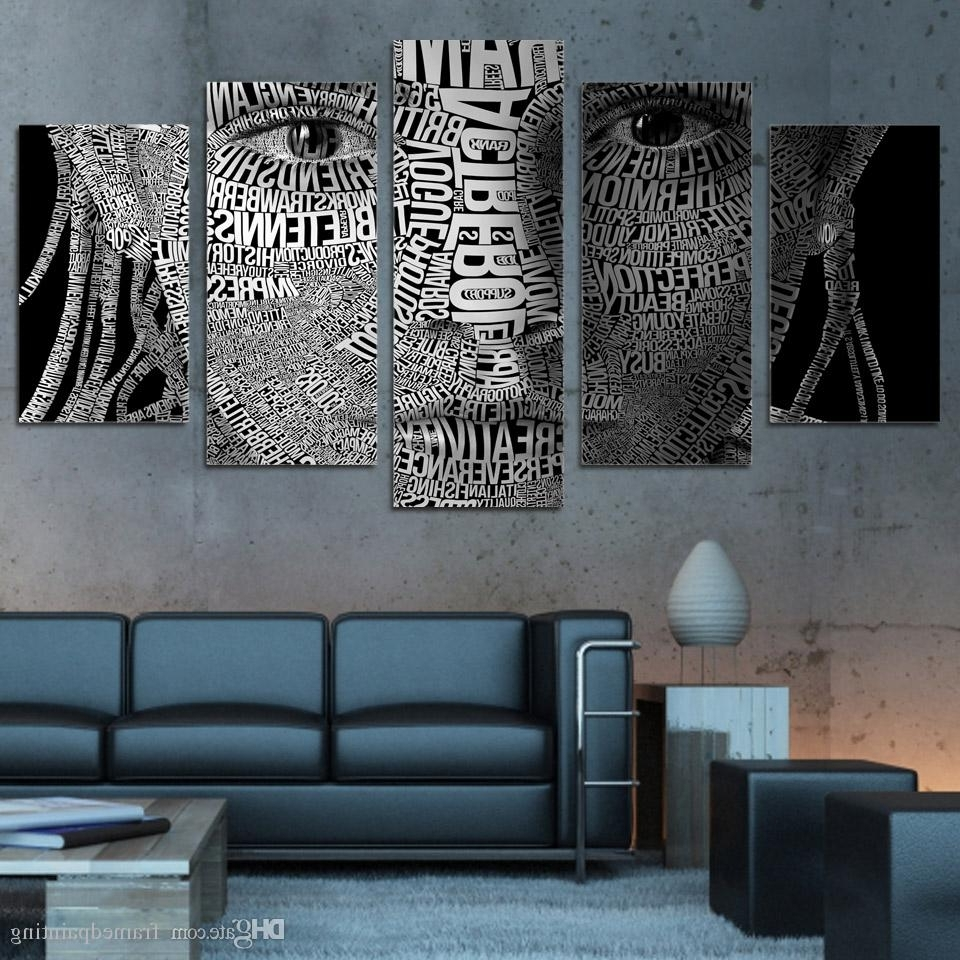 Latest 2018 Framed Hd Printed Words Face Typography Wall Art Canvas Print With Typography Canvas Wall Art (View 12 of 15)