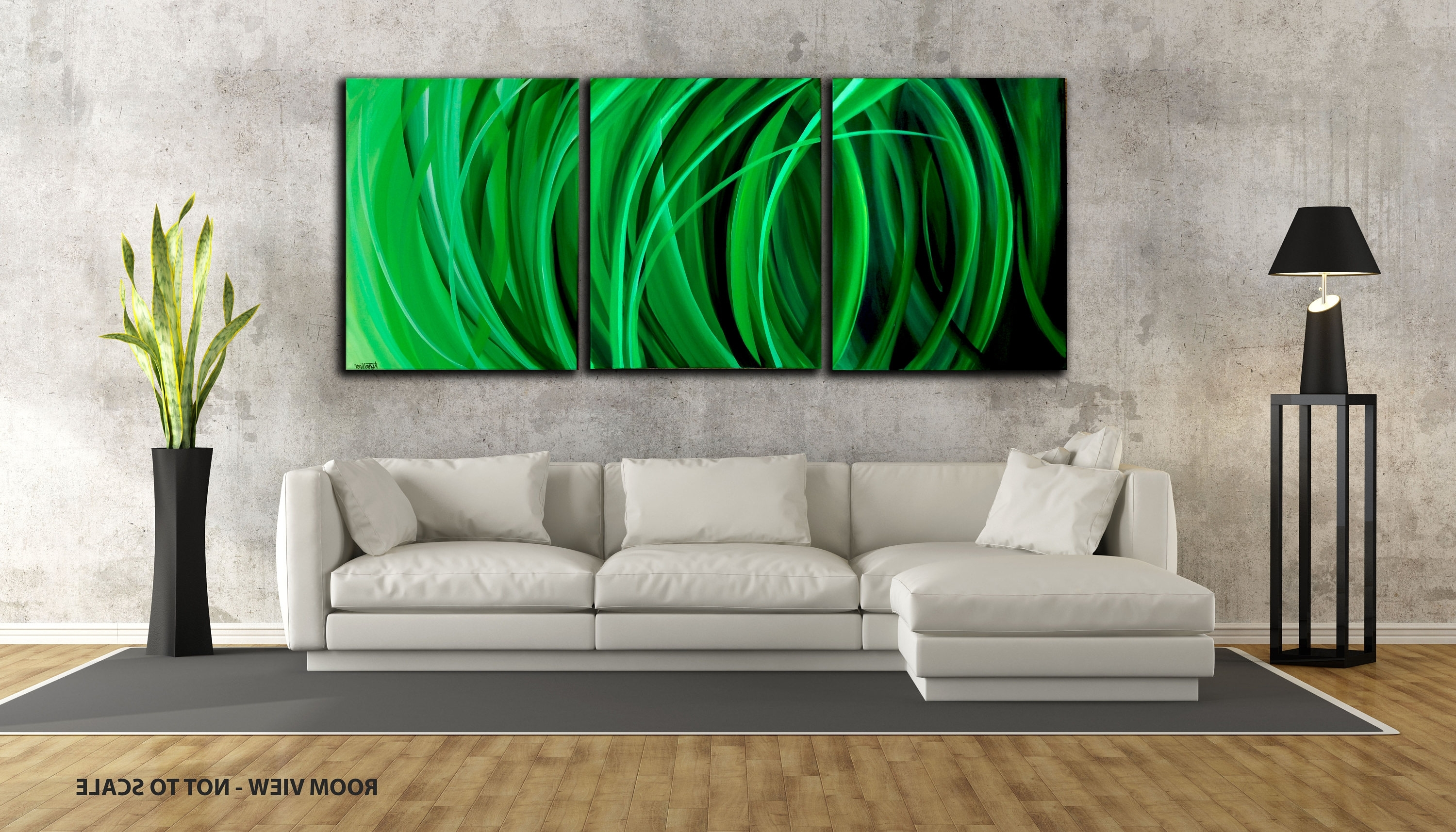 Latest 48 Large, Original Abstract Painting, Canvas, Wall Art, Modern With Large Green Wall Art (View 7 of 15)