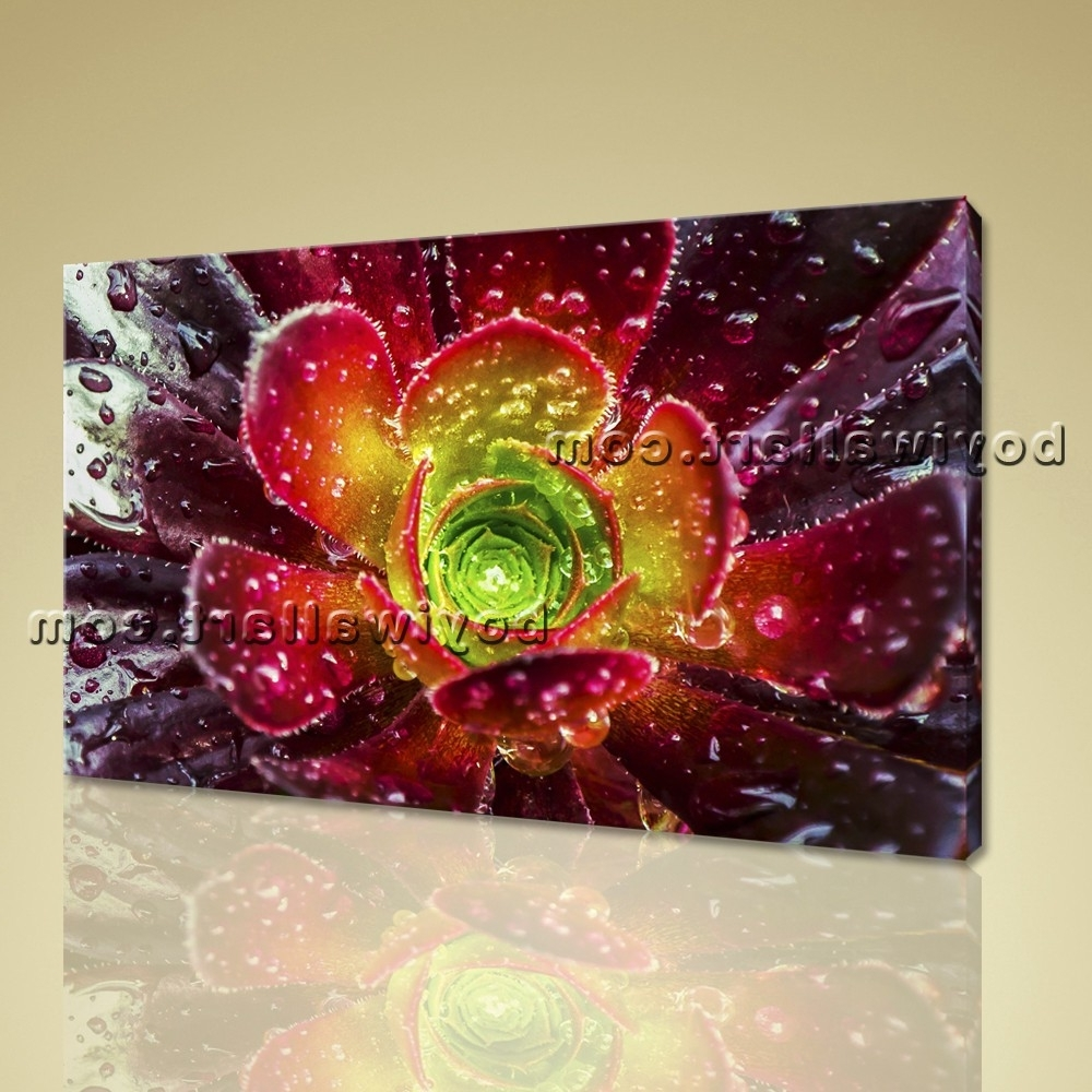 Latest Abstract Floral Wall Art Pertaining To Abstract Floral Wall Art Print On Canvas Flower Petals Home Decor (Gallery 7 of 15)