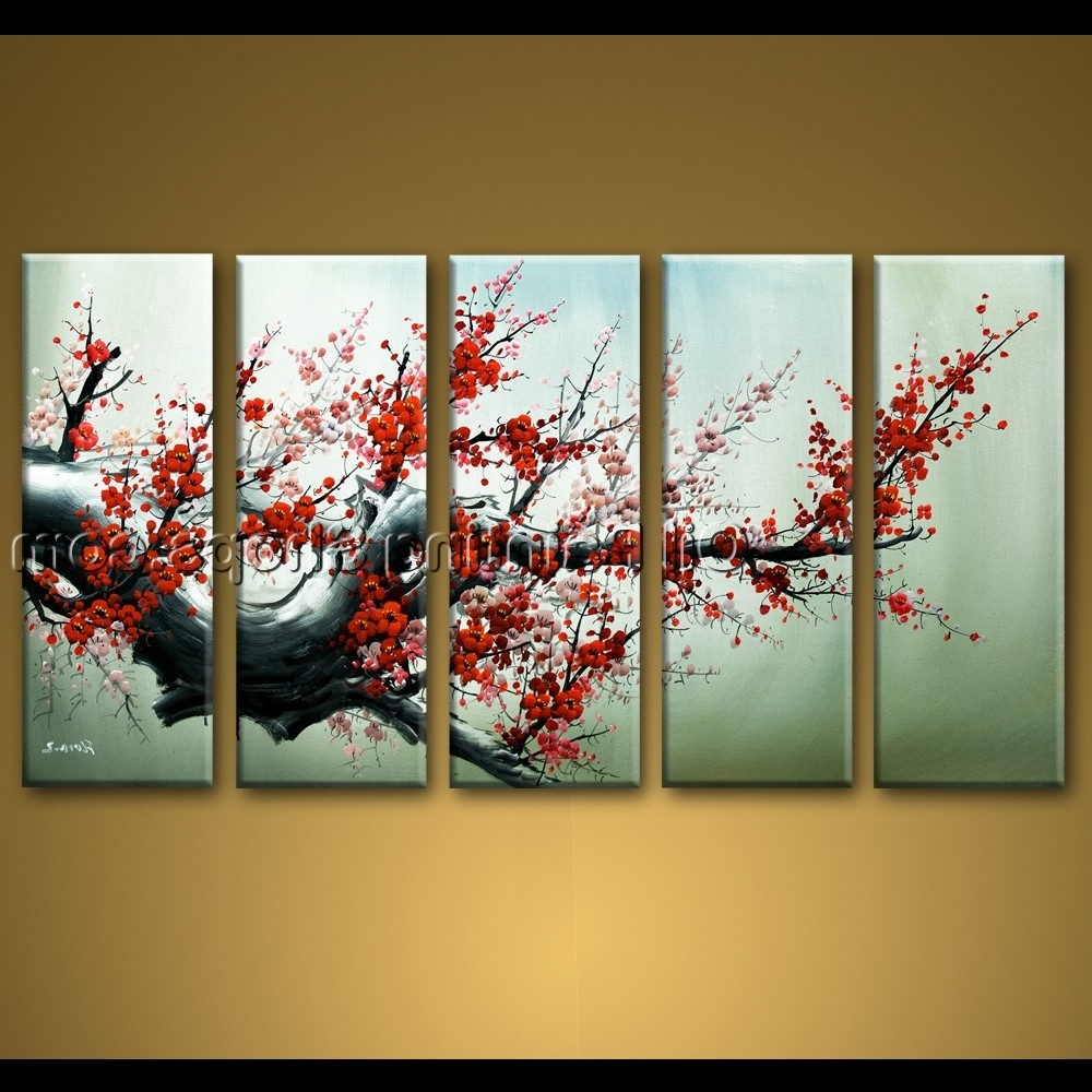 Latest Abstract Floral Wall Art Within Large Wall Art Hand Painted Abstract Floral Oil Painting Canvas (View 10 of 15)