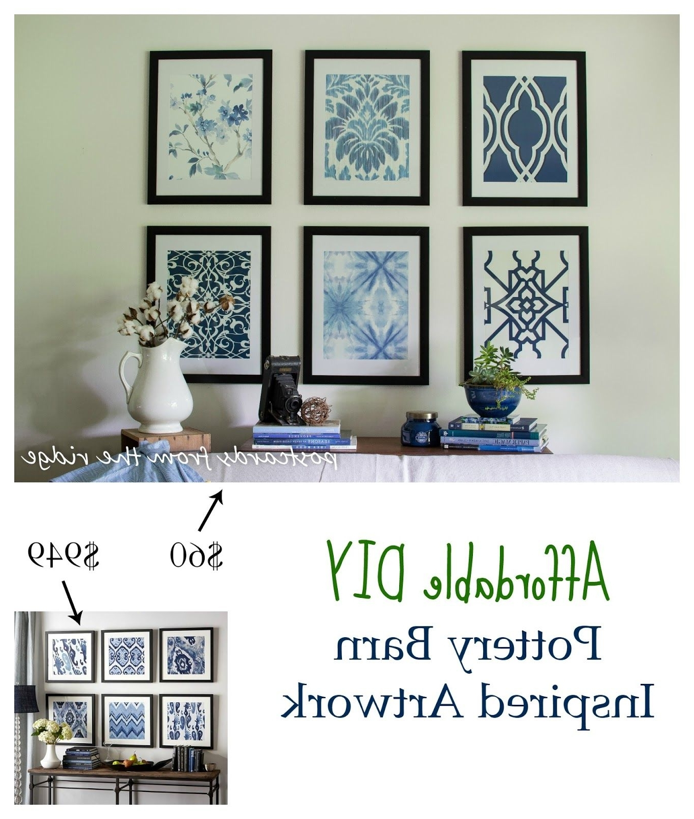 Latest Affordable Framed Wall Art Regarding Affordable Diy Artwork Inspiredpottery Barn ~ Rock Your (View 8 of 15)