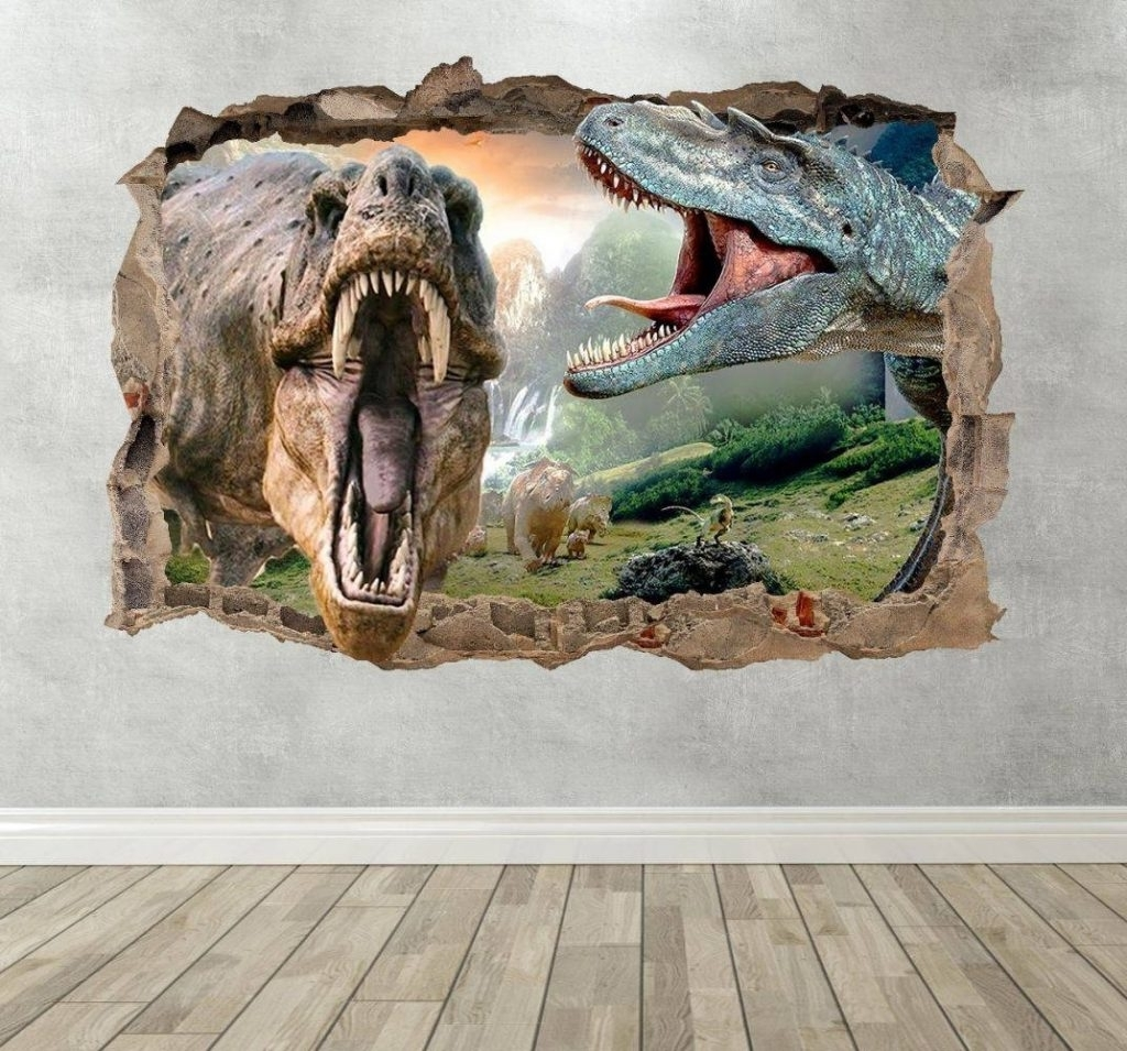 Latest Amazing Ideas 3D Dinosaur Wall Art In Conjunction With 20 With 3D Dinosaur Wall Art Decor (View 8 of 15)