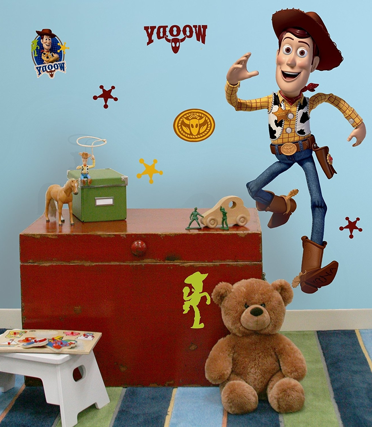 "Latest Amazon: Disney ""toy Story 3"" Woody Wall Decal Cutout 25""x50 Inside Toy Story Wall Stickers (View 5 of 15)"