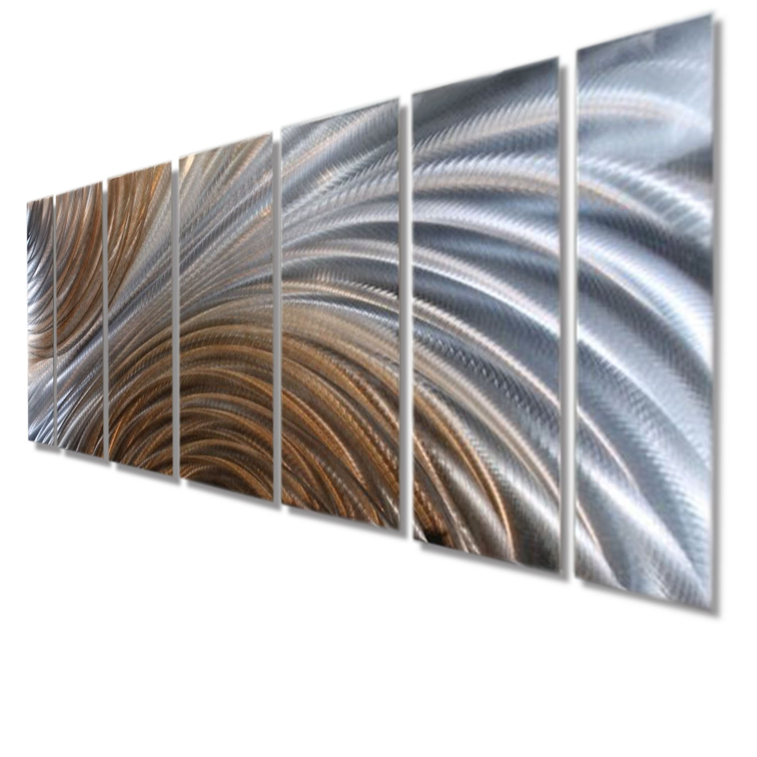 Latest Amber Ascension  Silver & Copper Abstract Metal Wall Artjon Regarding Large Abstract Metal Wall Art (View 6 of 15)