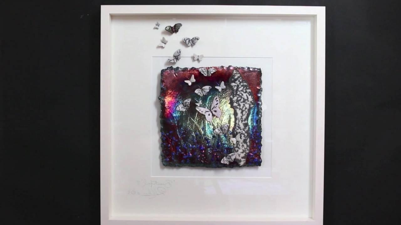 "Latest Beautiful"" Raku Ceramic Butterflies Wall Art ~ Rebeka Kahn – Youtube With Ceramic Butterfly Wall Art (View 10 of 15)"