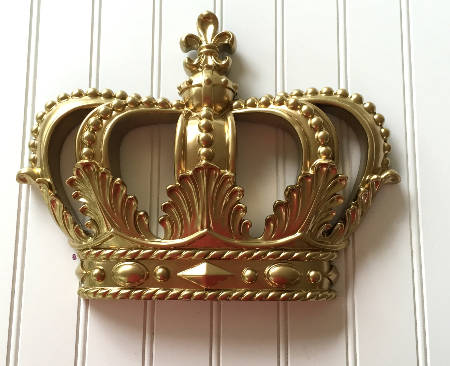 Latest Beetling Design Crown 3D Wall Art Throughout Trendy Metal Crown Wall Decor Sale Gold Princess Nursery Hanging (View 4 of 8)