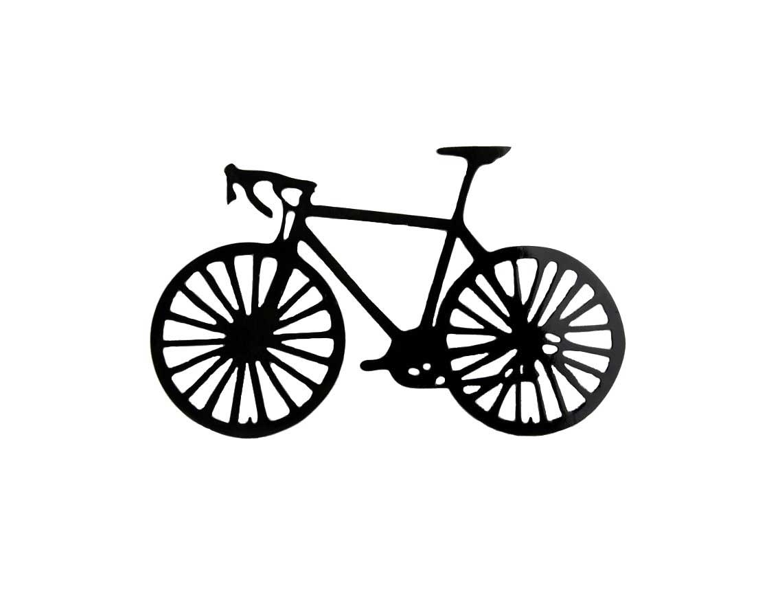 Latest Bicycle Metal Wall Art In Smw162 Metal Road Bike Wall Art – Sunriver Metal Works (View 15 of 15)