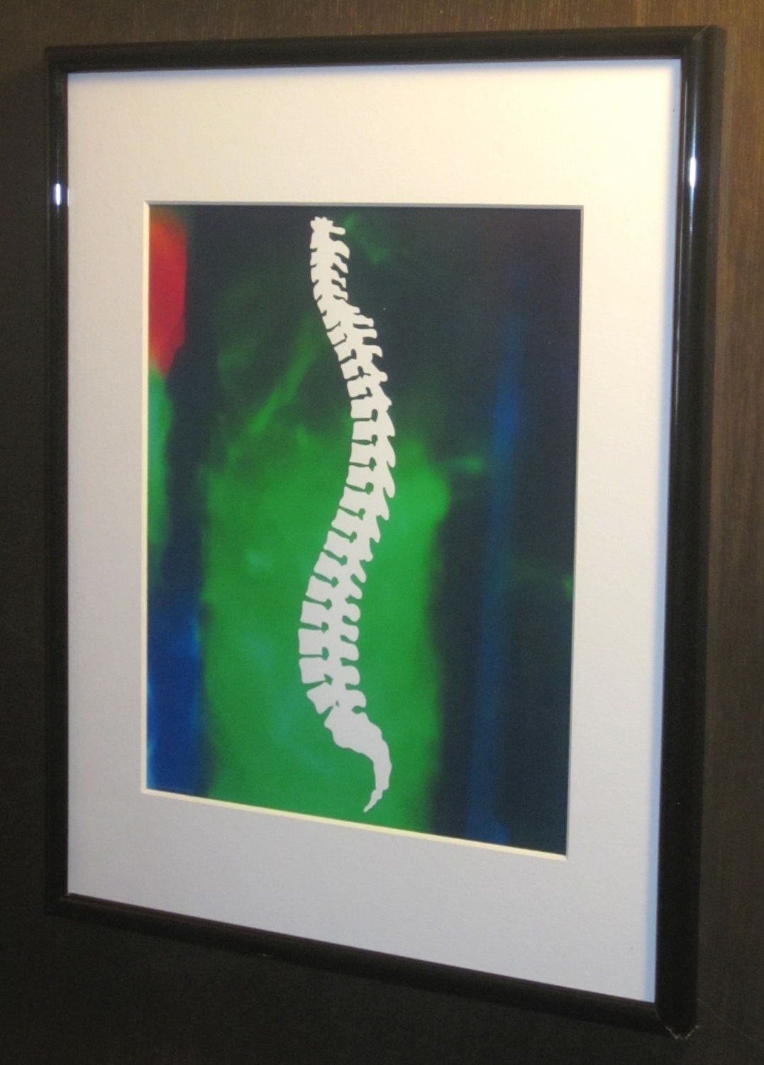 Latest Chiropractic Wall Art In Matted And Framed Chiropractic Spine Silhouette Print (View 8 of 15)