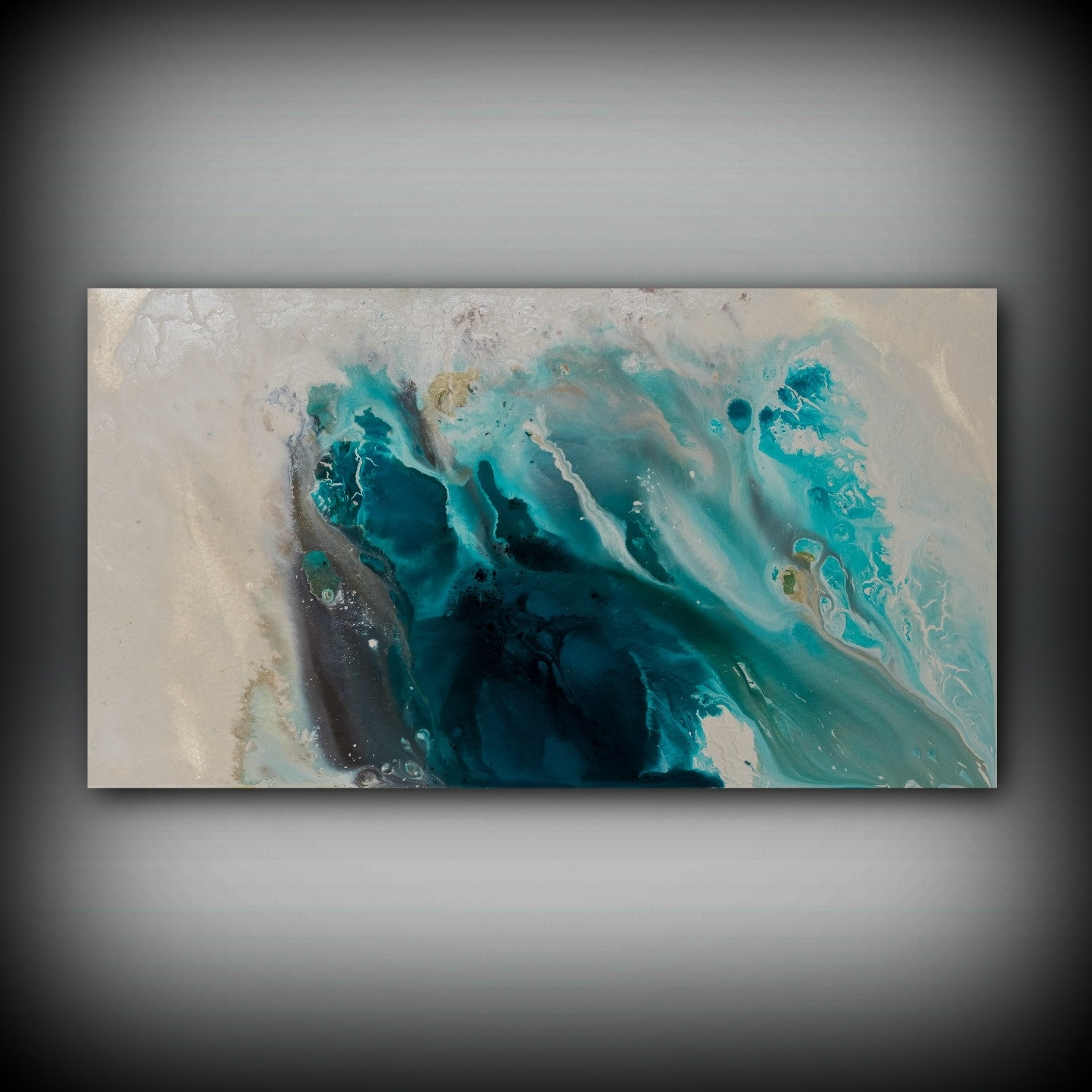 Latest Coastal Wall Art Canvas Within Abstract Art Blue Wall Art Coastal Landscape Giclee Large Print On (View 6 of 15)