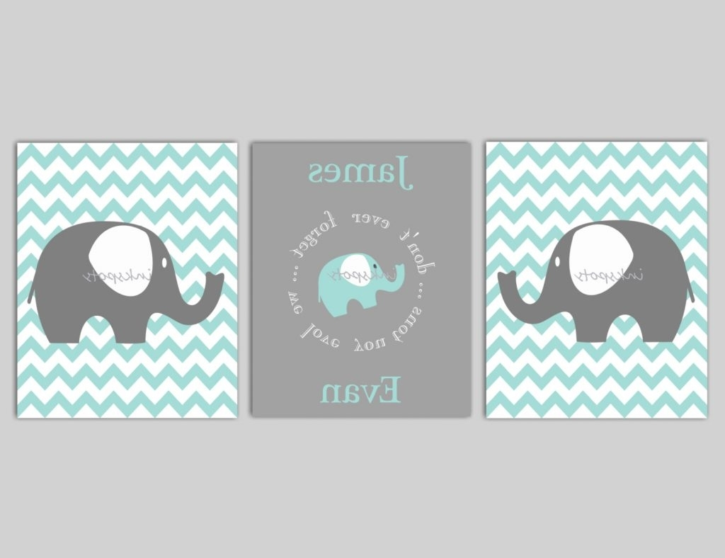 Latest Download Elephant Wall Decor For Nursery (View 9 of 15)