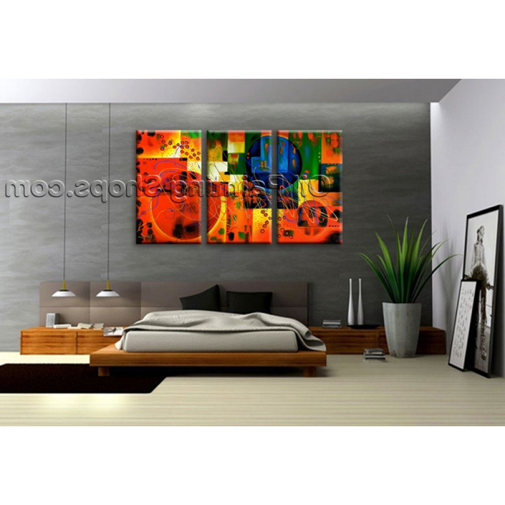 Latest Extra Large Wall Art Colorful Abstract Oil Painting On Canvas Pertaining To Huge Abstract Wall Art (Gallery 5 of 15)