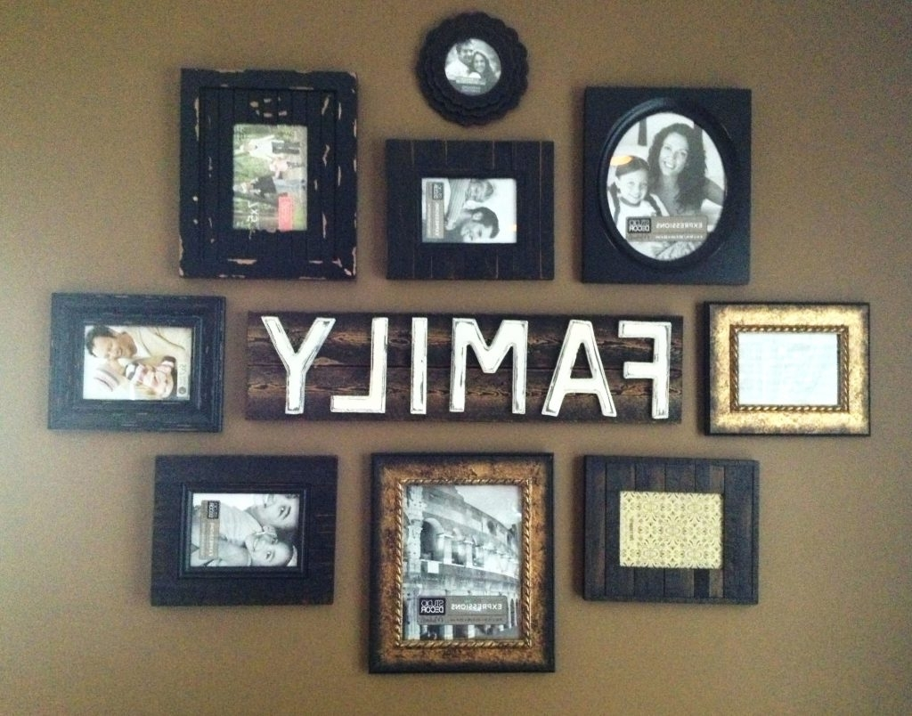 Latest Family Photo Wall Art In Wall Arts ~ Diy Wall Art Using Picture Frames Ideas Family Wall (View 11 of 15)