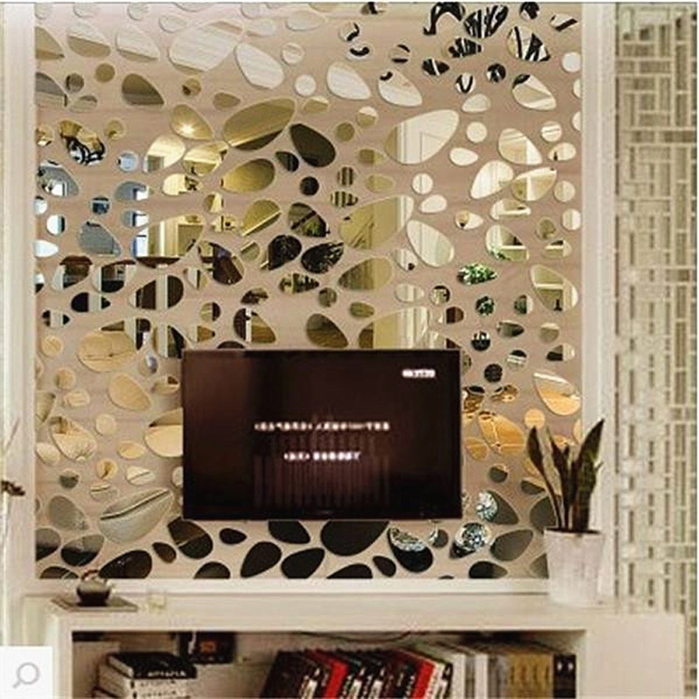 Latest Fashion Oval Abstract Wall Decor Art Acrylic Wall Sticker Diy 3D Pertaining To 3D Glass Wall Art (View 8 of 15)