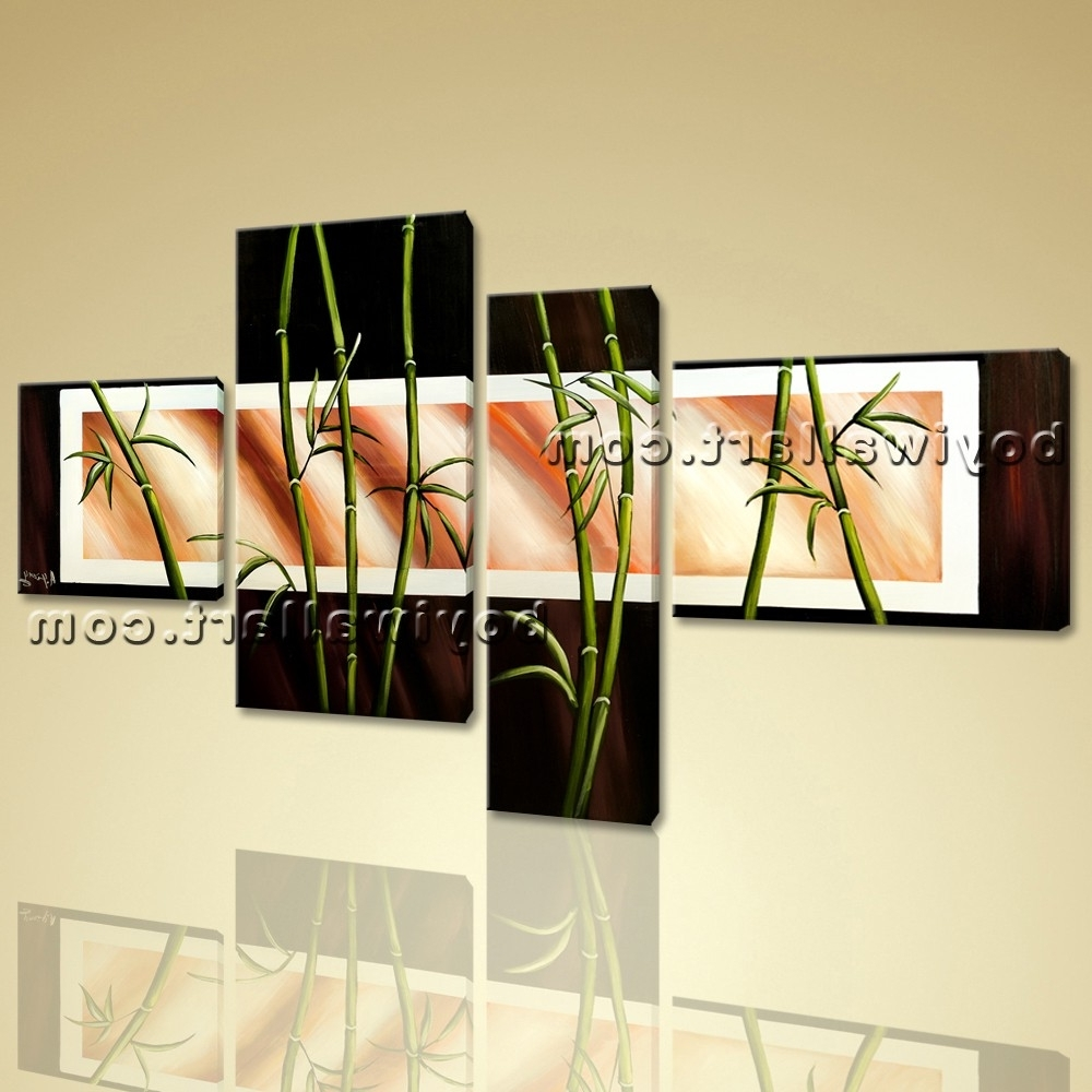 Latest Feng Shui Wall Art With Regard To Shui Zen Art Giclee Artworks Bamboo On Canvas Stretched Prints (View 8 of 15)
