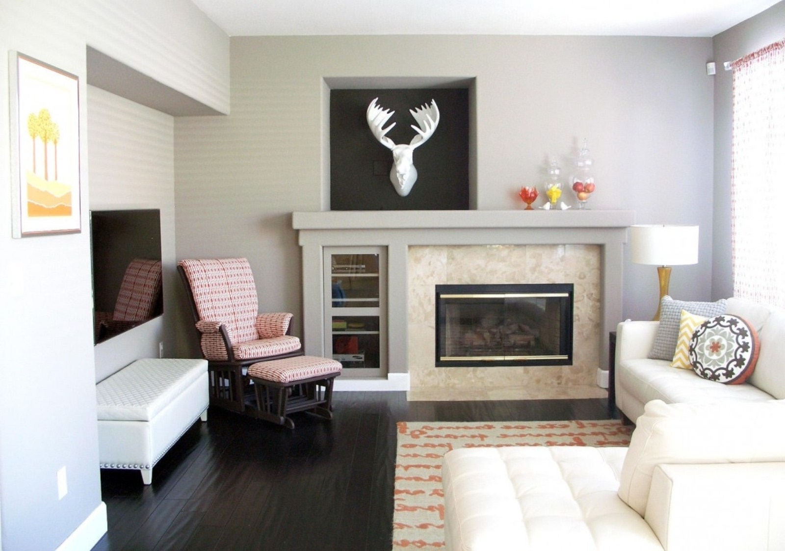 Latest Fireplace Wall Art Regarding Art Gallery Wall Ideas Above Fireplace For Small Family Room (View 8 of 15)