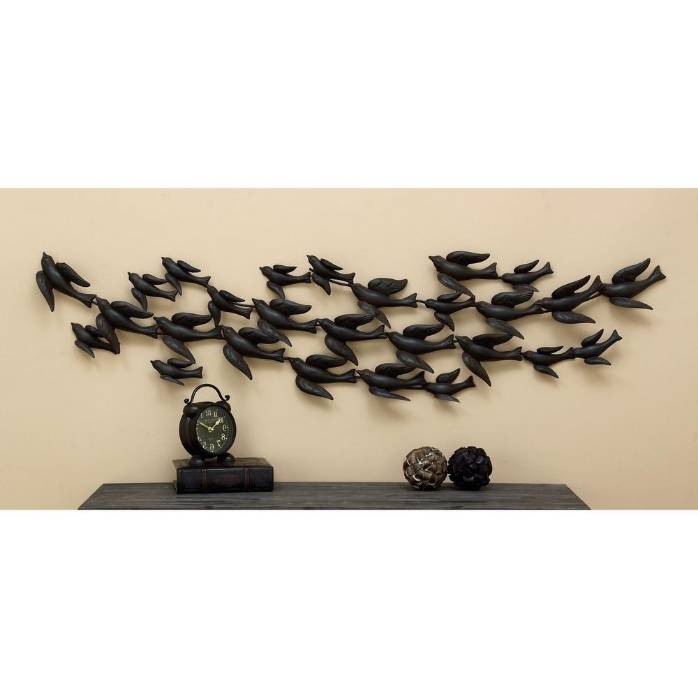 Latest Flock Of Birds Metal Wall Art Intended For In Flight 69 In (View 10 of 15)