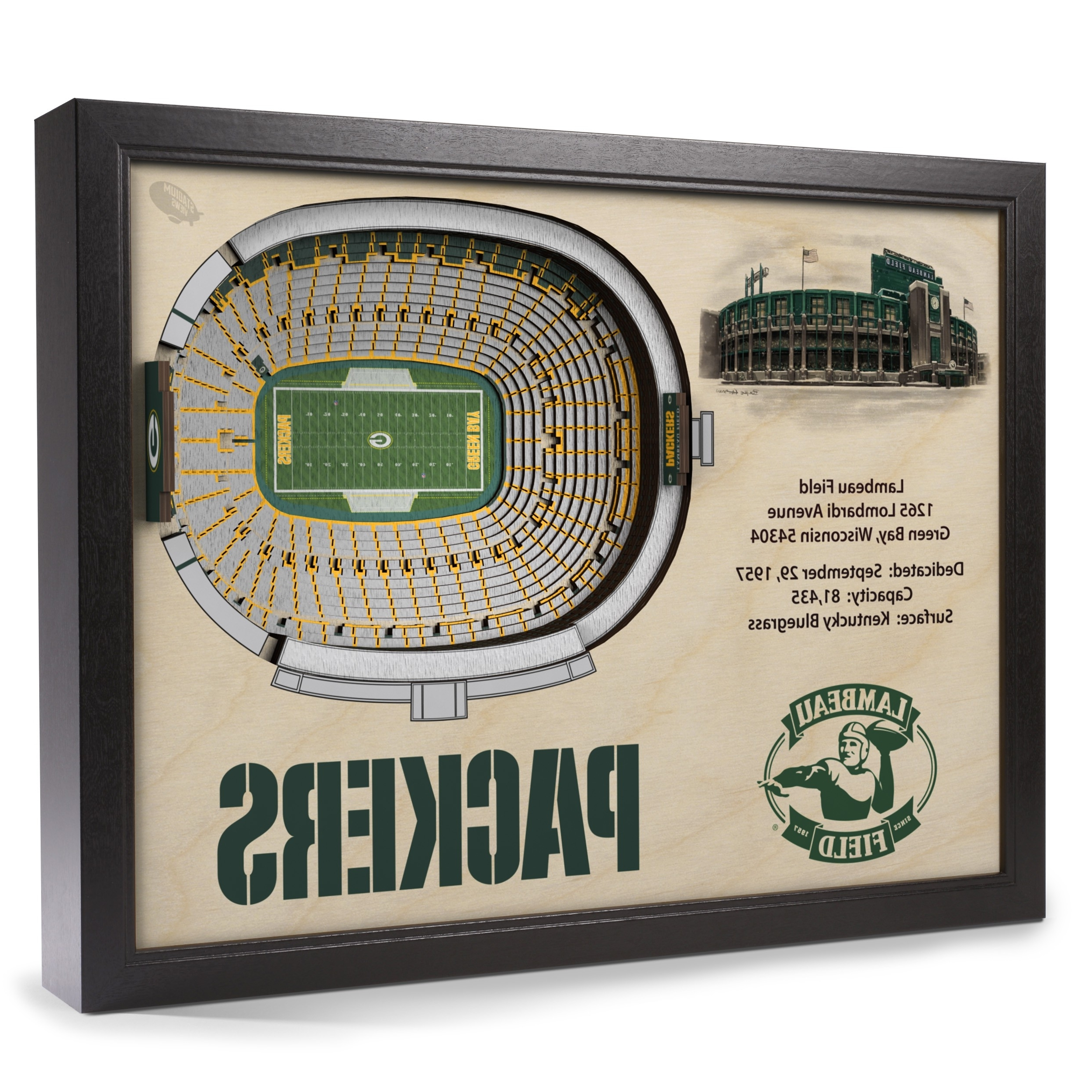 Latest Green Bay Packers Stadiumview Wall Art – Lambeau Field 3 D Within Green Bay Packers Wall Art (View 15 of 15)