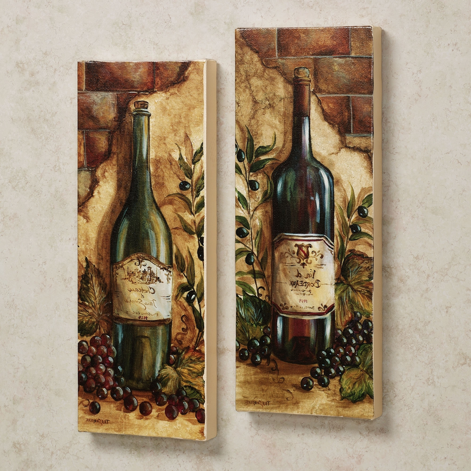 Latest Hausdesign Grape Design Kitchen Accessories Congenial Wine Wall In Kitchen Wall Art Sets (View 9 of 15)