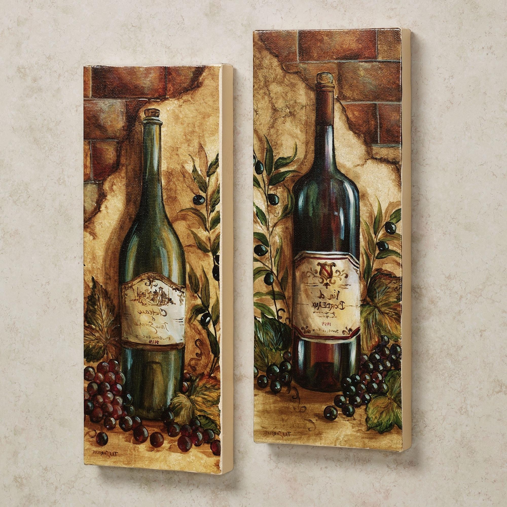 Latest Hausdesign Grape Design Kitchen Accessories Congenial Wine Wall In Kitchen Wall Art Sets (View 5 of 15)