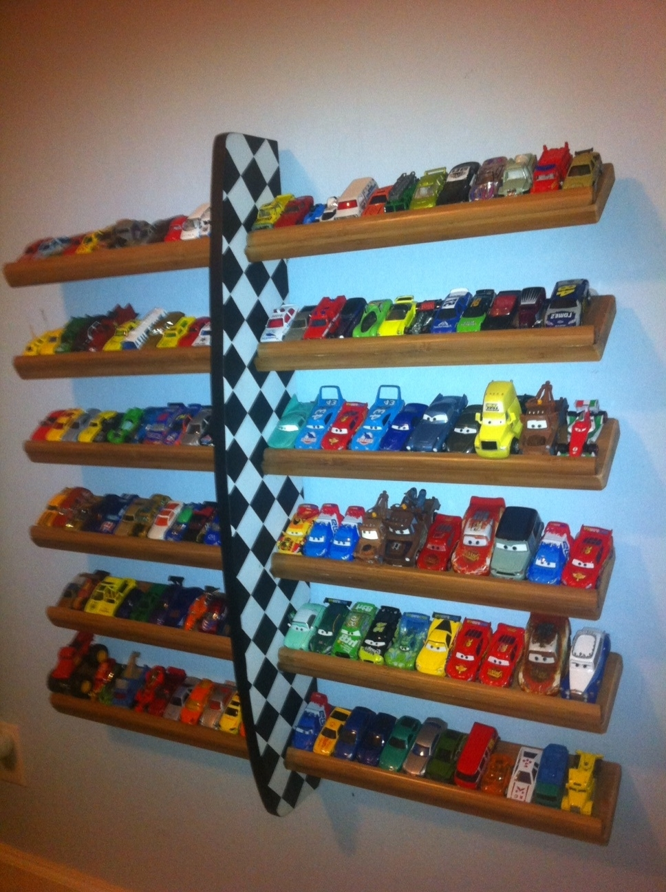 Latest Hot Wheels Wall Art Throughout Hot Wheels Holder—Can Somebody Please Make This For Talon. (View 11 of 15)