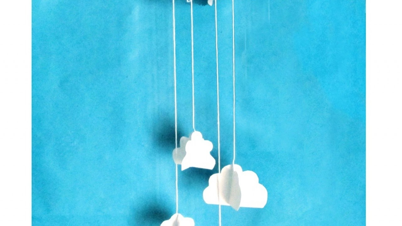 Latest How To Make A Cute Cloud Wall Decoration – Diy Home Tutorial Within 3D Clouds Out Of Paper Wall Art (View 8 of 15)