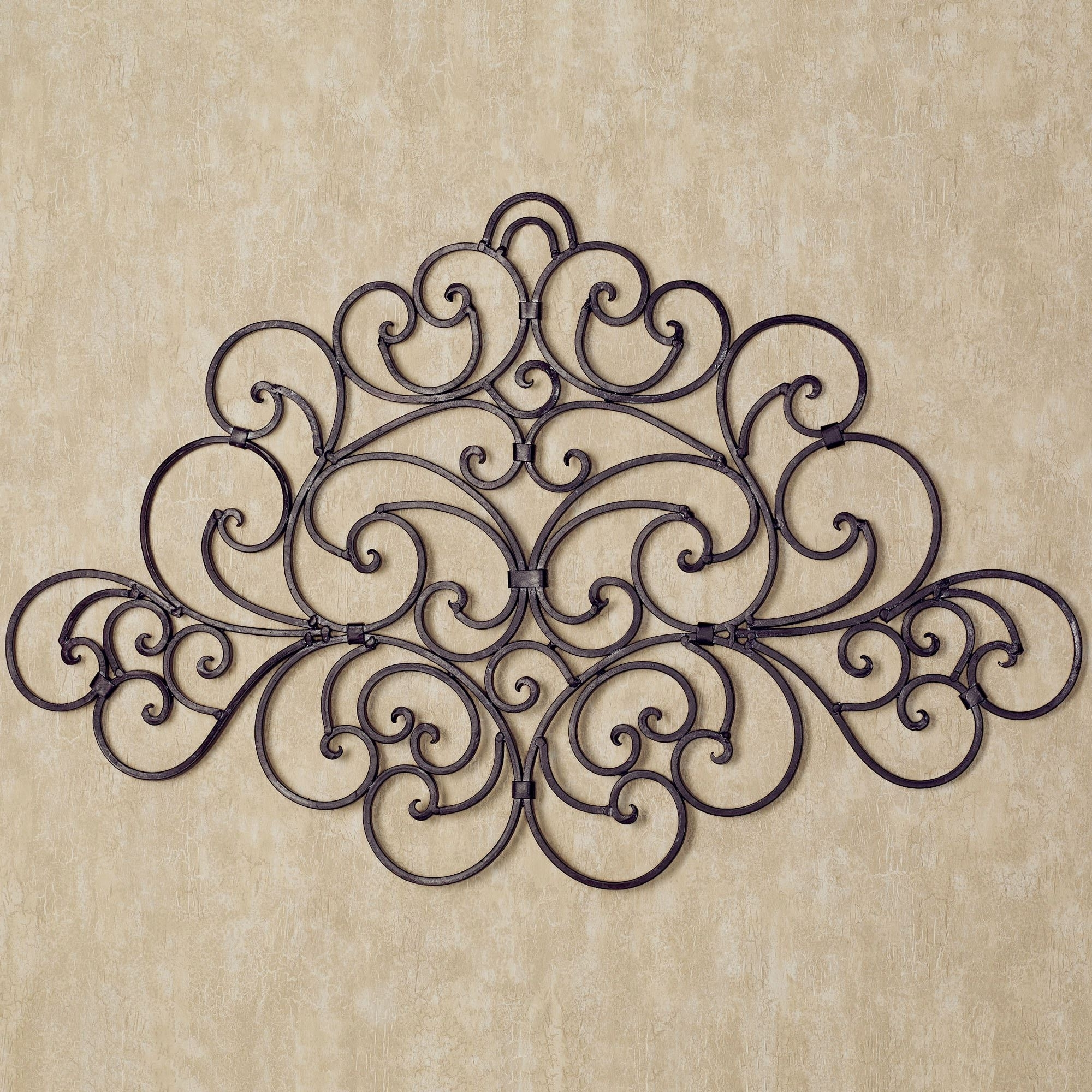 Latest Iron Scroll Wall Art Regarding Camilio Scroll Wrought Iron Wall Grille (View 7 of 15)