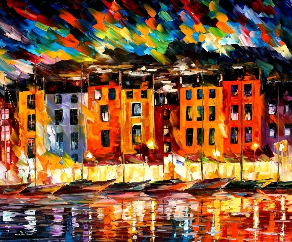 Latest Italian Cities Wall Art For Leonid Afremov, Oil On Canvas, Palette Knife, Buy Original (View 3 of 15)