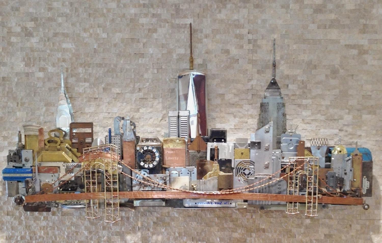Latest John Sendelbach Metal Stone Arts: 2014 Regarding Metal Wall Art New York City Skyline (View 5 of 15)