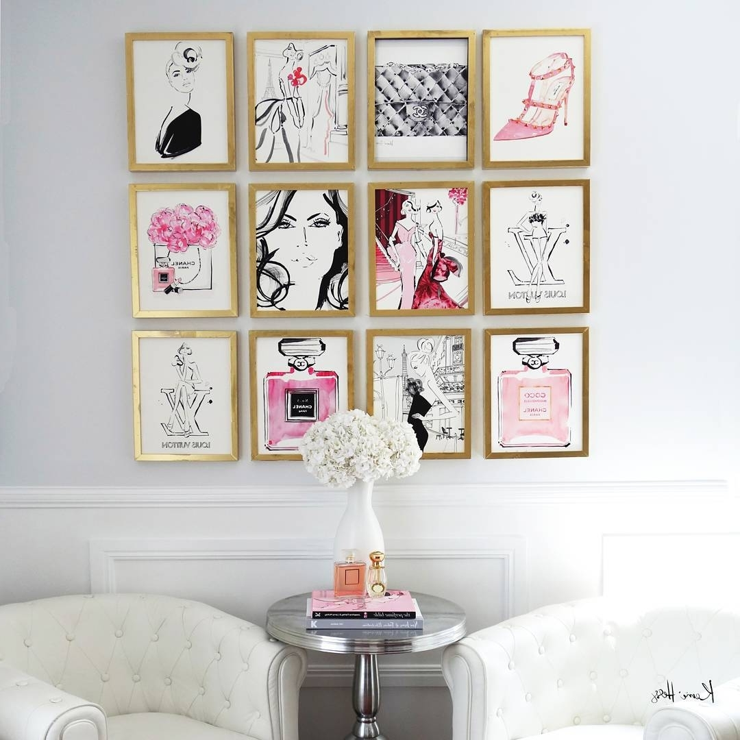 """Latest Kerrie Hess Illustrator On Instagram: """"you Know You Love Your Job Pertaining To Chanel Wall Decor (View 11 of 15)"""