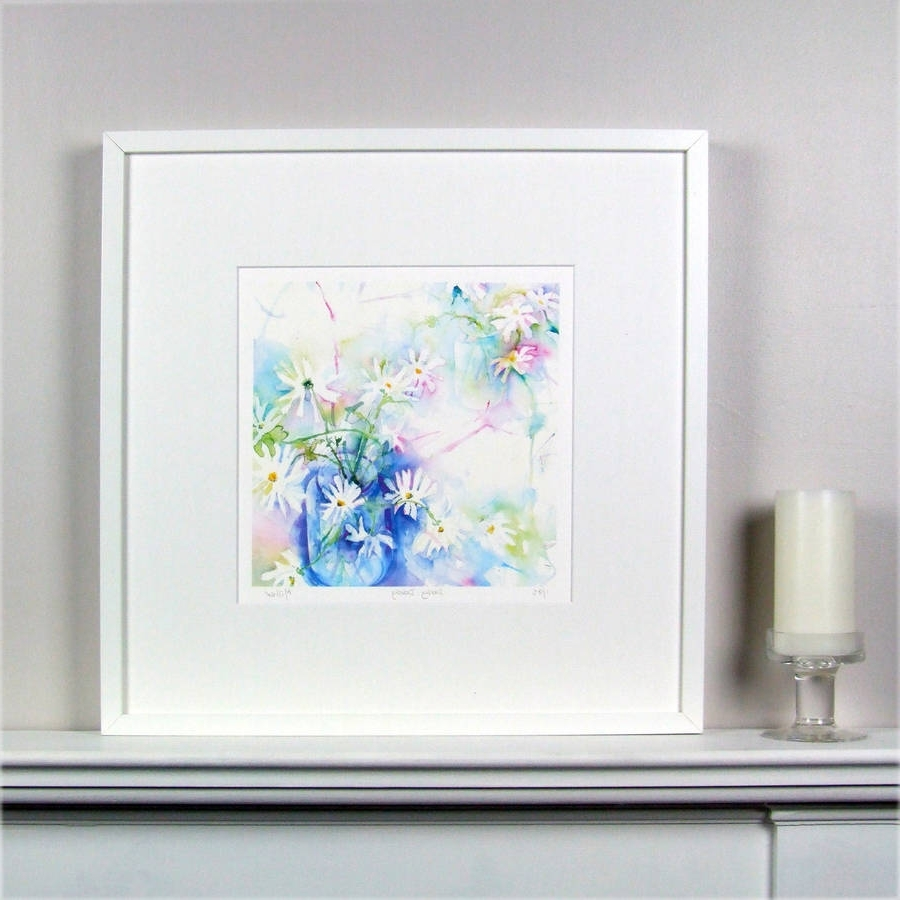 Latest Limited Edition Floral Daisy Fine Art Canvas Printsusan Miller Within Limited Edition Wall Art (Gallery 13 of 15)