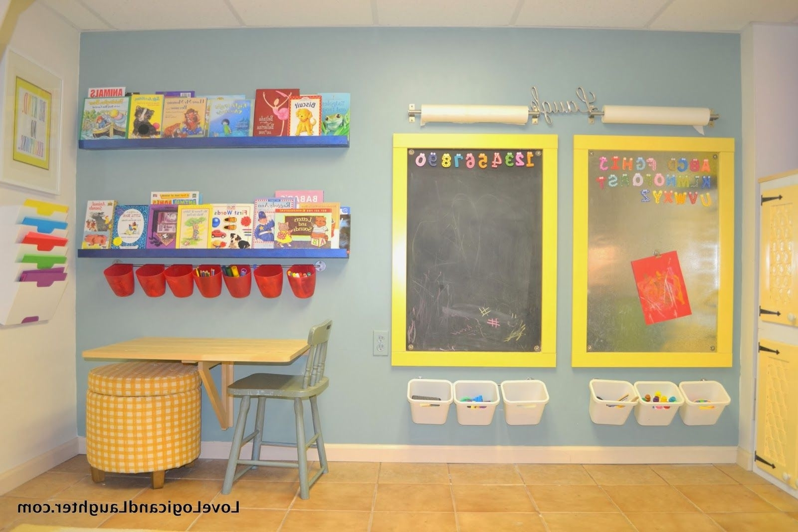Latest Logic And Laughter: Reading Nook, Swing And Art Wall In The Pertaining To Wall Art For Playroom (View 6 of 15)