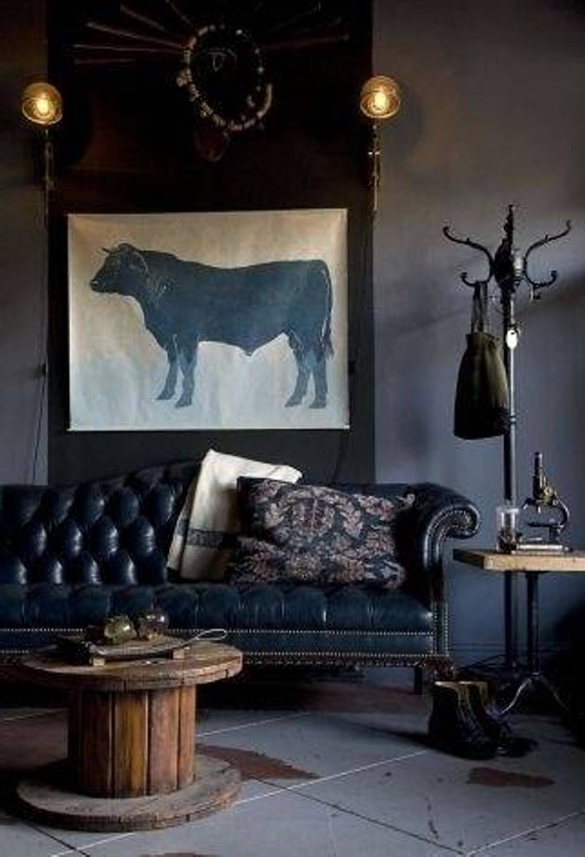 Latest Masculine Wall Art Within Masculine Wall Art With Gray Bison Picture And Interior Design (View 9 of 15)
