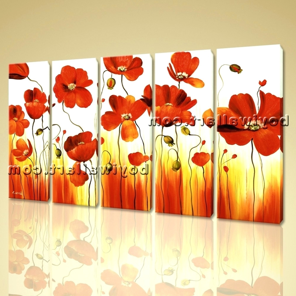 Latest Metal Poppy Wall Art For Wall Arts ~ Large Stretched Canvas Wall Art Prints Abstract (View 6 of 15)