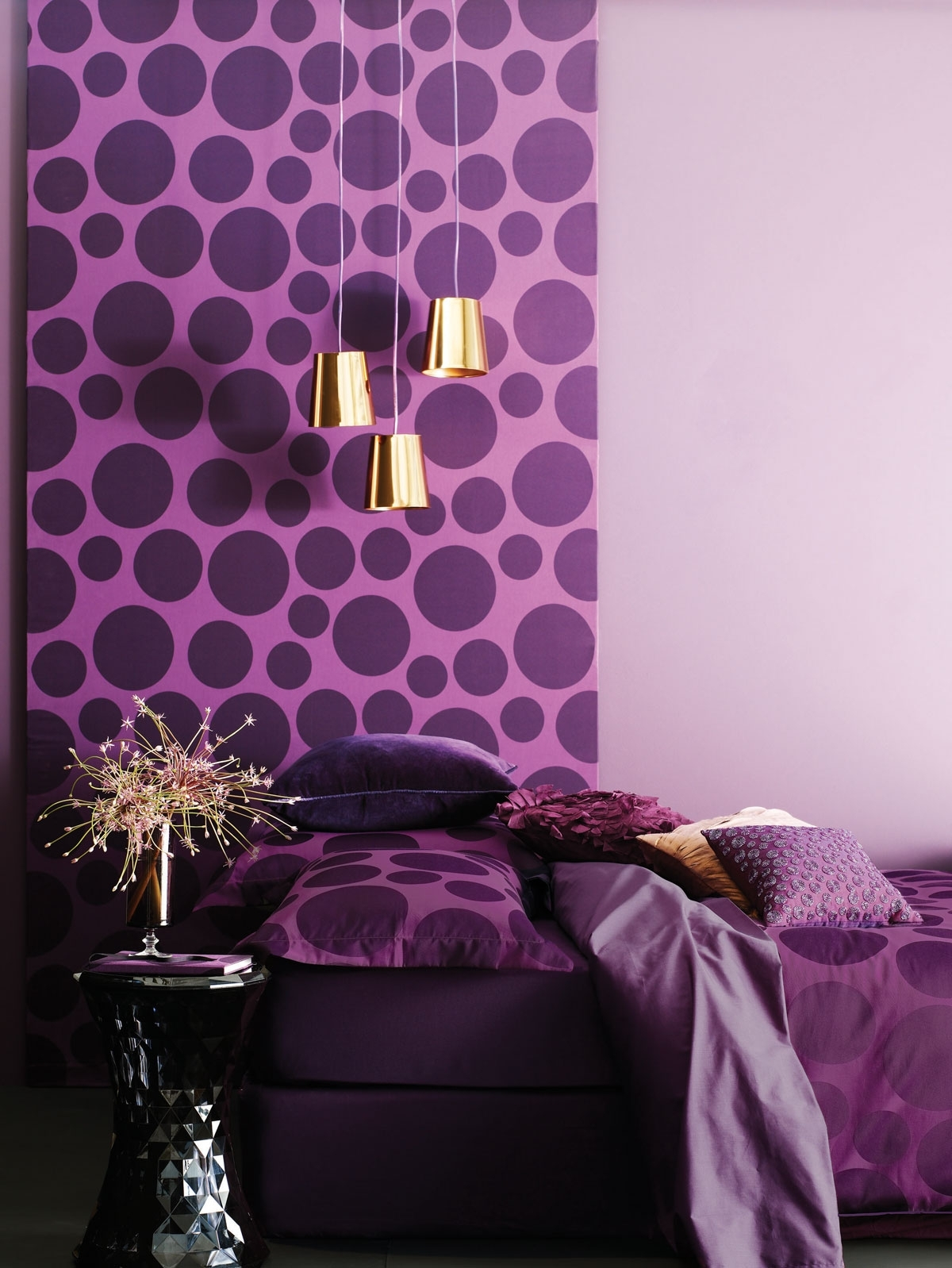 Latest Room Design With Wallpaper, Purple Wall Decor For Bedrooms Purple Within Purple Wall Art For Bedroom (View 6 of 15)