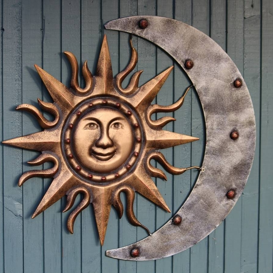 Latest Sun And Moon Metal Garden Wall Sculpturegarden Selections For Sun And Moon Metal Wall Art (View 4 of 15)