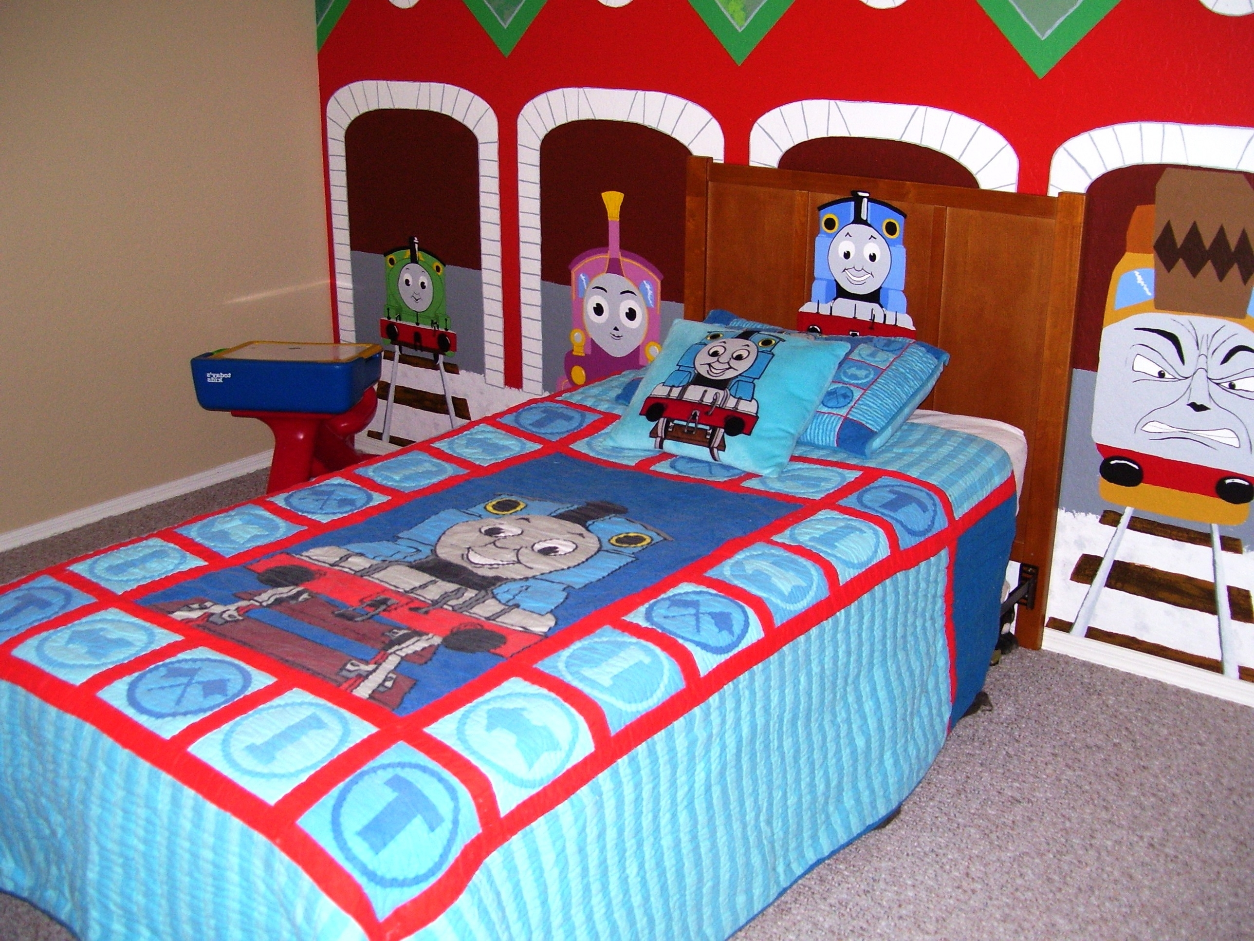 Latest Thomas The Tank Wall Art For Thomas The Train Bedroom Decor Wall Art — Office And Bedroom (View 3 of 15)