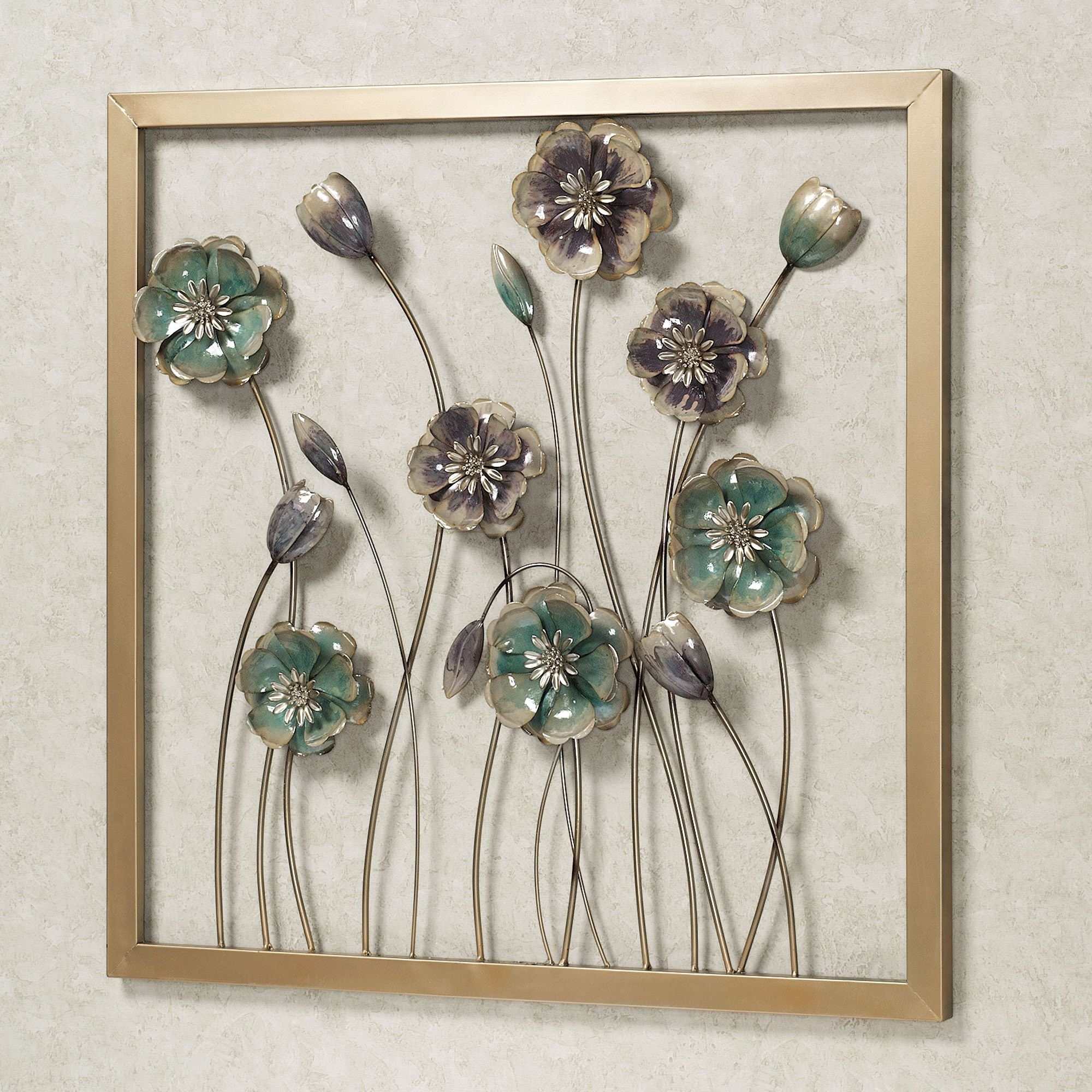 Latest Touch Of Class Metal Wall Art Regarding Floral Salute Square Metal Wall Art (Gallery 14 of 15)