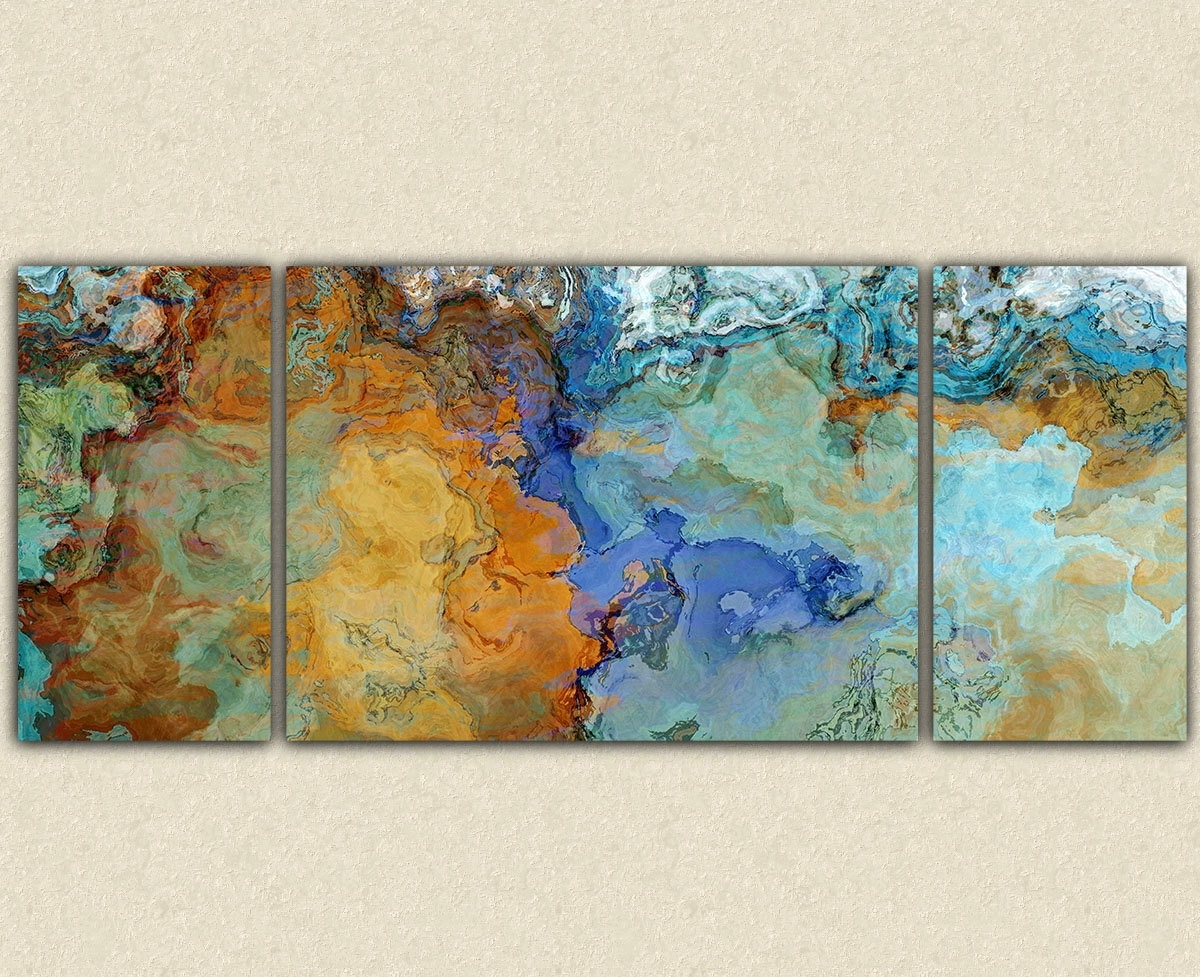 Featured Photo of Orange And Blue Wall Art
