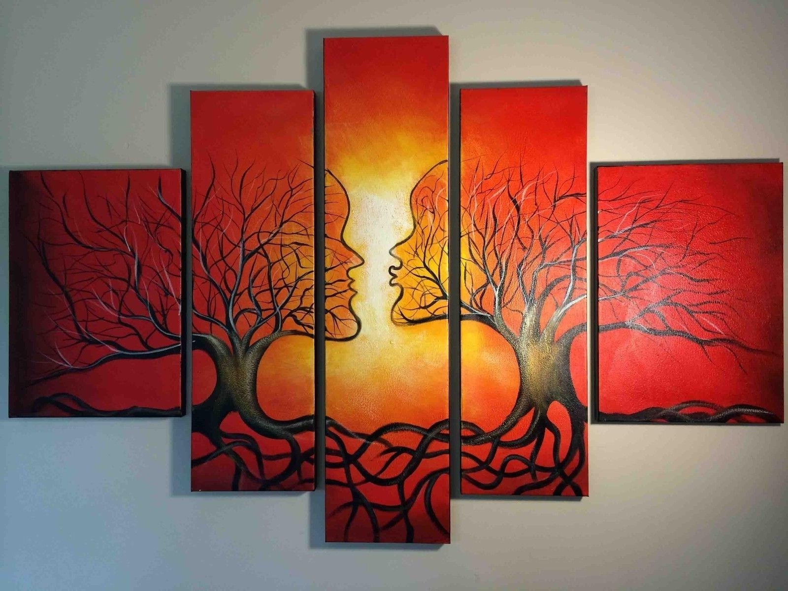 Latest Wall Art Designs: Abstract Wall Art Red Abstract Oil Painting Throughout Abstract Orange Wall Art (View 11 of 15)
