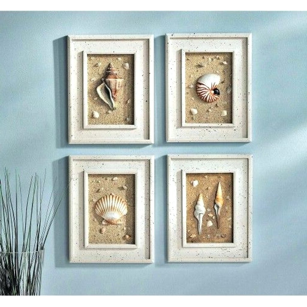 Latest Wall Arts ~ 29 Beach Crafts Coastal Diy Wall Art Seashell Wall In Wall Art With Seashells (View 5 of 15)