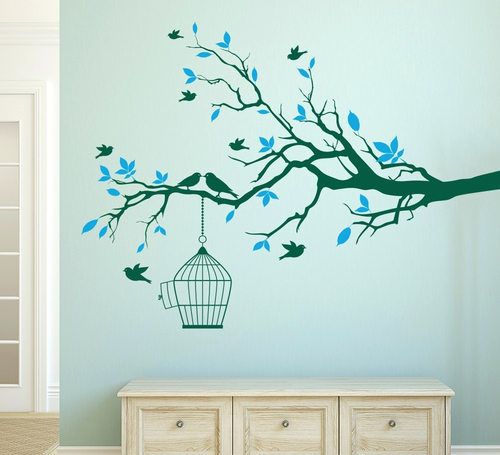 Latest Wall Arts ~ Wall Art Stickers Family Tree Wall Decor Stickers Intended For Tree Branch Wall Art (View 5 of 15)