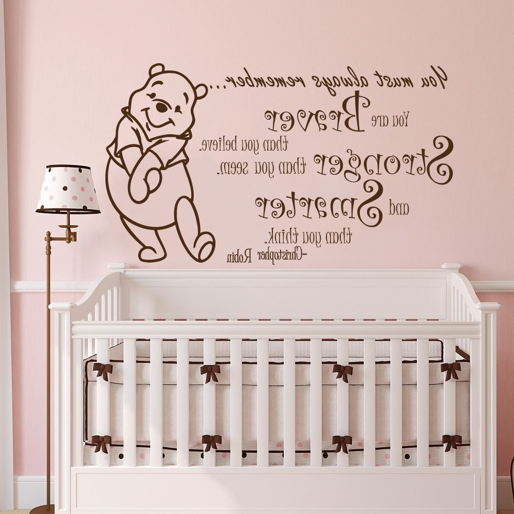 Latest Winnie The Pooh Quotes For Baby Room New Winnie The Pooh Quotes Within Winnie The Pooh Nursery Quotes Wall Art (View 2 of 15)