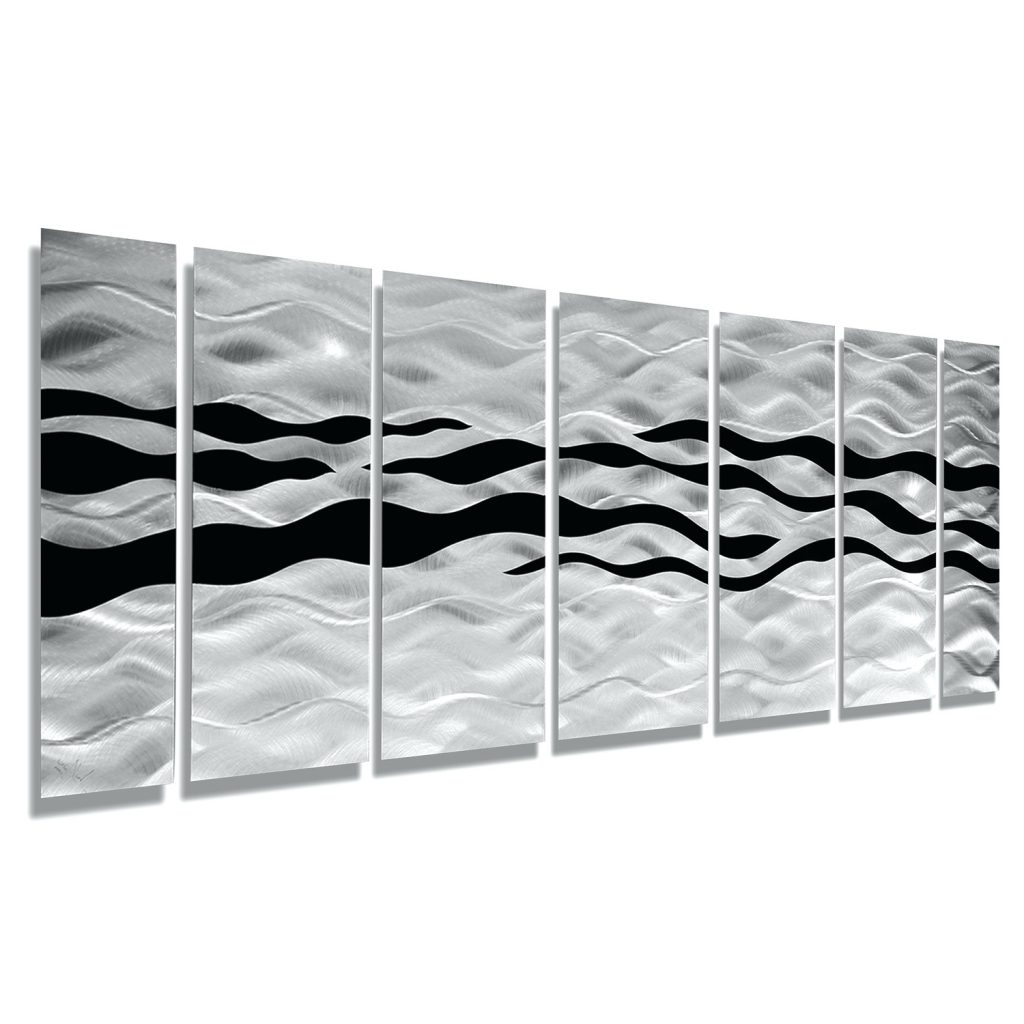 Latest Woven Metal Wall Art Pertaining To Wall Arts ~ Wild Ways Silver And Black Modern Metallic Wall (Gallery 4 of 15)