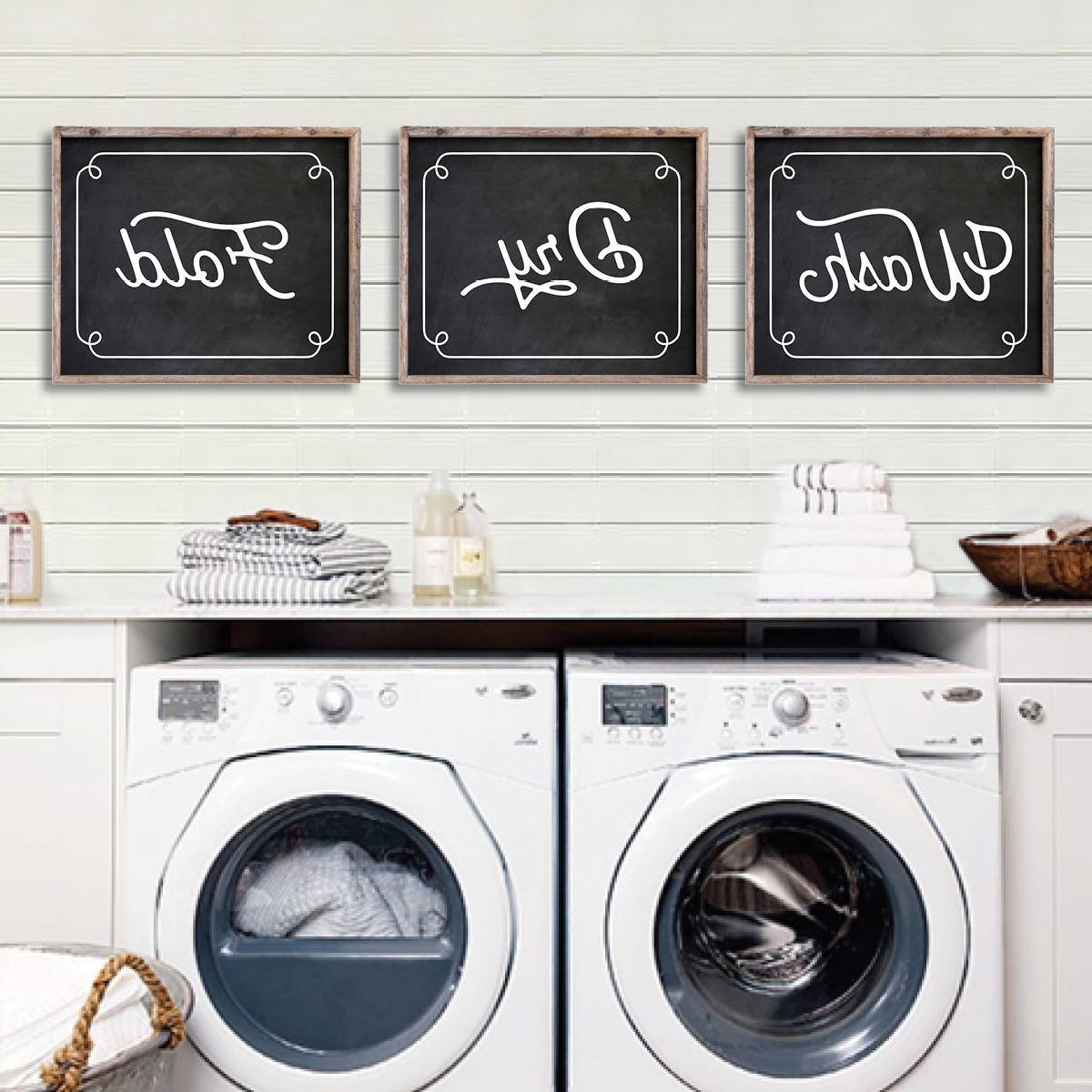 Laundry Room Wall Art Intended For Fashionable Laundry Room Decor (View 6 of 15)