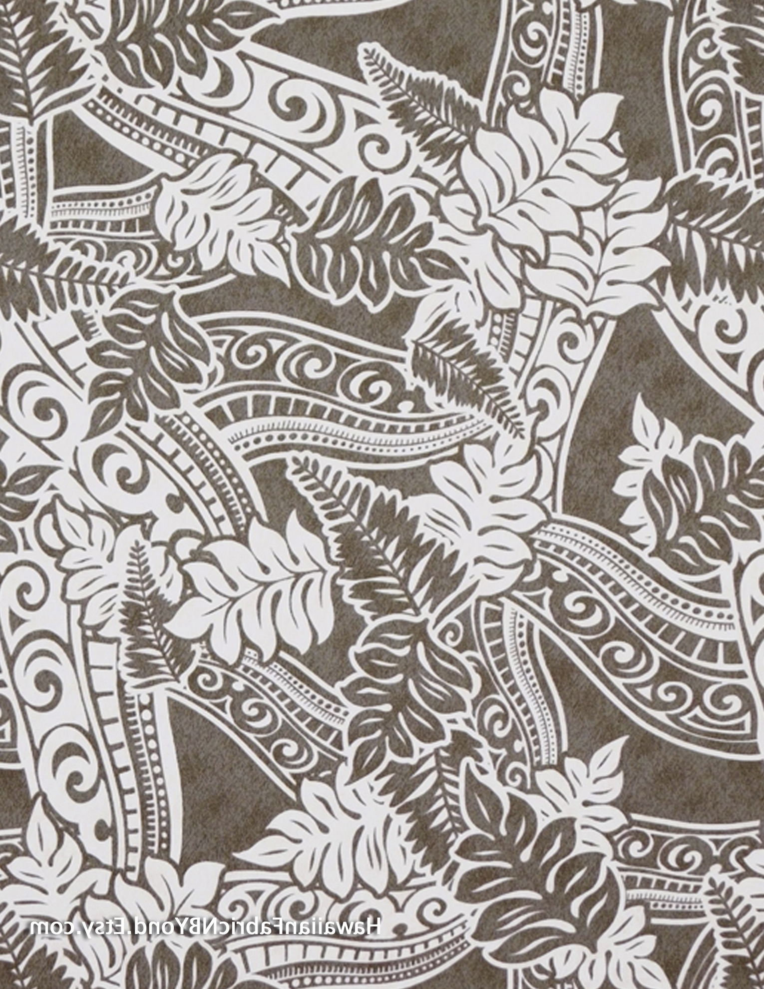 Lavalava Fabric; Polynesian Tapa Tattoo Patterns And Tropical Throughout 2018 Polynesian Wall Art (View 3 of 15)