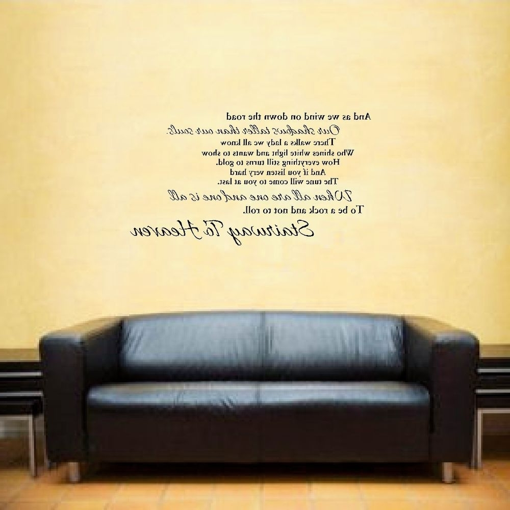 Led Zeppelin Stairway To Heaven Song Lyrics Vinyl Wall Art Room Intended For Well Known Led Zeppelin Wall Art (View 7 of 15)